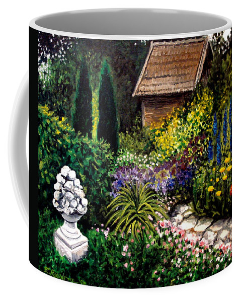 Landscape Coffee Mug featuring the painting Keeper Of The Garden by Elizabeth Robinette Tyndall
