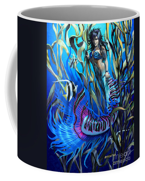 Fantasy Coffee Mug featuring the digital art Kelp Mermaid by Stanley Morrison