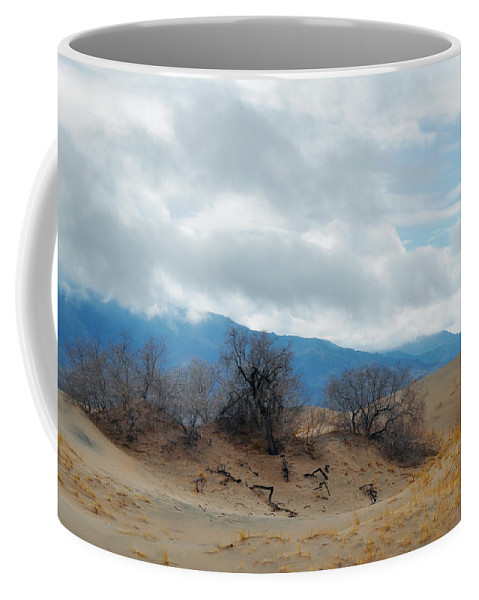 Kelso Dunes Coffee Mug featuring the photograph Kelso Dunes Winter Landscape by Kyle Hanson