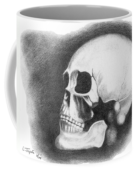 Portrait Coffee Mug featuring the drawing Kennewick Man by Lawrence Tripoli