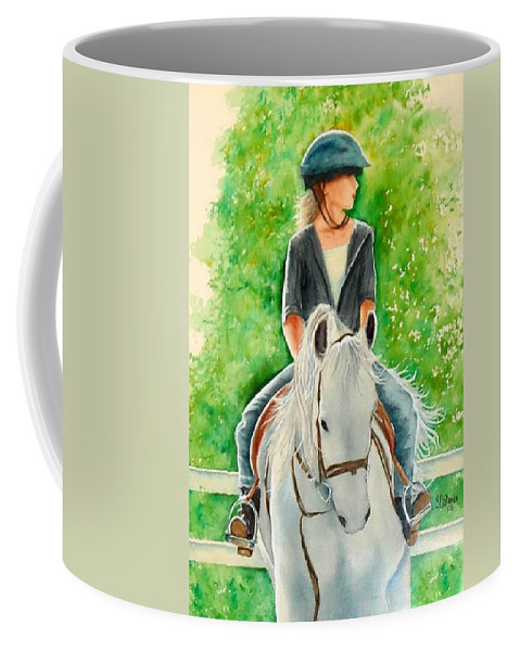 Girl Coffee Mug featuring the painting Kenzie by Sonya Catania