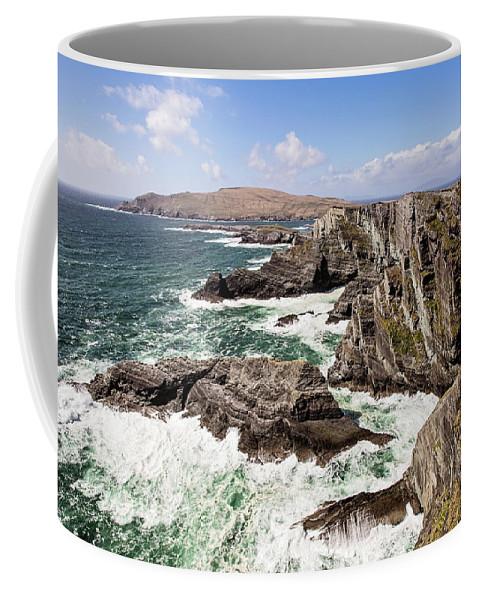 Republic Of Ireland Coffee Mug featuring the photograph Kerry Cliffs by Scott Pellegrin