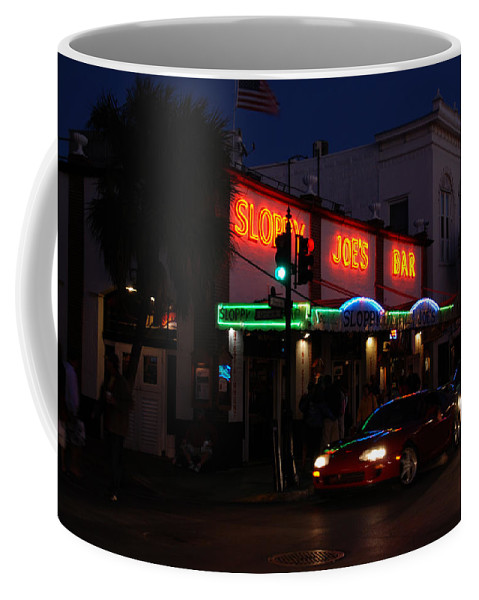 Photography Coffee Mug featuring the photograph Key West By Night by Susanne Van Hulst