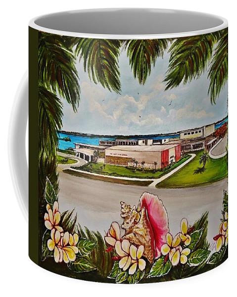 Key West Coffee Mug featuring the painting Key West High School From The 60's Era by Lois Rivera