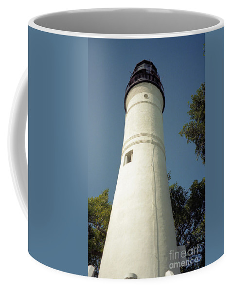 Lighthouses Coffee Mug featuring the photograph Key West Lighthouse by Richard Rizzo