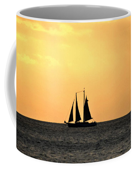Key West Coffee Mug featuring the photograph Key West Sunset Sail by Bill Cannon