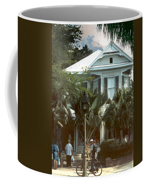 Historic Coffee Mug featuring the photograph Keywest by Steve Karol