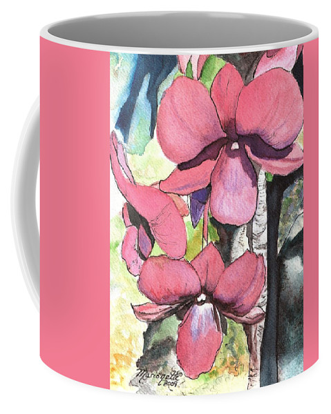 Orchid Coffee Mug featuring the painting Kiahuna Orchids by Marionette Taboniar