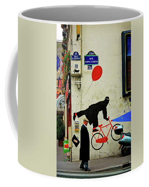 Paris Coffee Mug featuring the photograph Kick In The Head by Skip Hunt