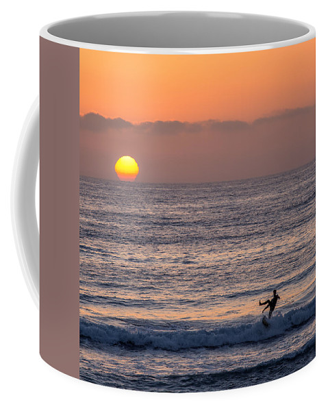 Beach Coffee Mug featuring the photograph Kickin It by Peter Tellone