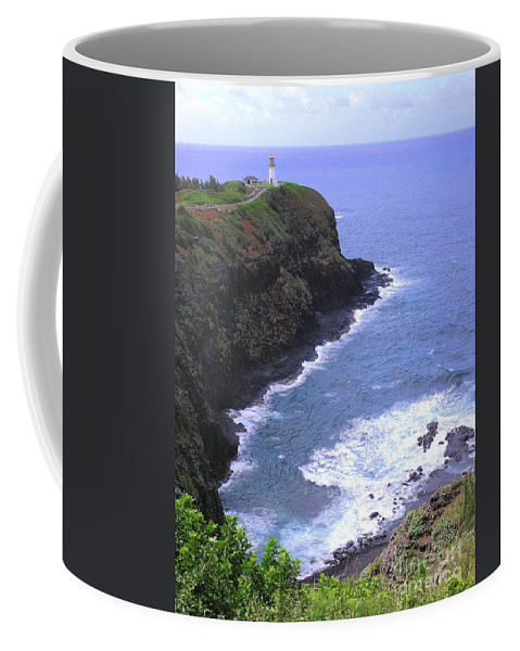 Lighthouse Coffee Mug featuring the photograph Kilauea Lighthouse And Bird Sanctuary by Mary Deal