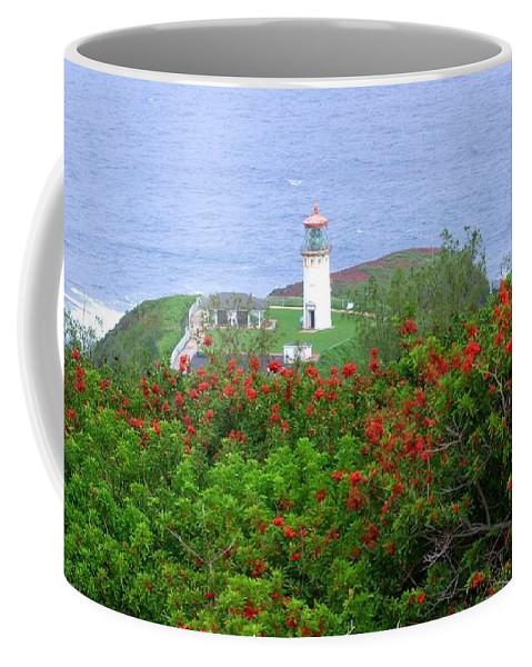 Lighthouses Coffee Mug featuring the photograph Kilauea Lighthouse Kauai Hawaii by Mary Deal