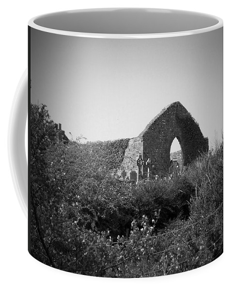 Irish Coffee Mug featuring the photograph Kilmanaheen Church Ruins Ennistymon Ireland by Teresa Mucha