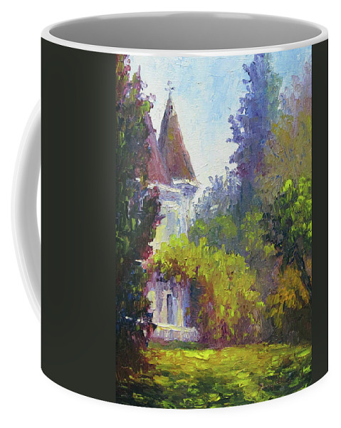Impressionist Coffee Mug featuring the painting Kimberly Crest by Terry Chacon