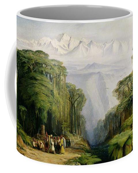 Kinchinjunga Coffee Mug featuring the painting Kinchinjunga From Darjeeling by Edward Lear