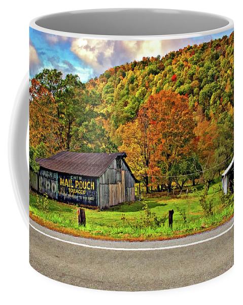 West Virginia Coffee Mug featuring the photograph Kindred Barns by Steve Harrington