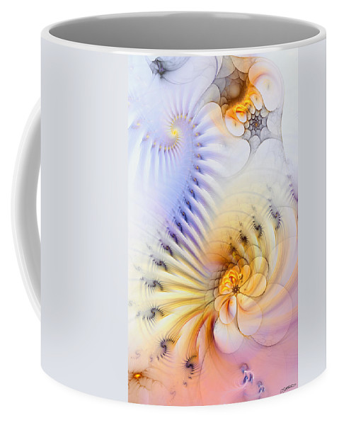 Abstract Coffee Mug featuring the digital art Kinetic Pantomime by Casey Kotas
