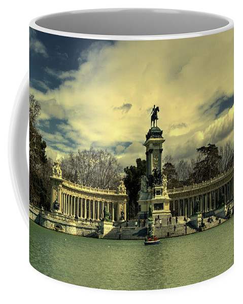 King Alfonso Coffee Mug featuring the photograph King Alfonso Monument by Rob Hawkins