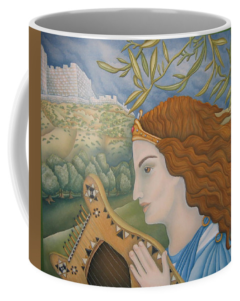 Bible Coffee Mug featuring the painting King David In His Youth by Jeniffer Stapher-Thomas