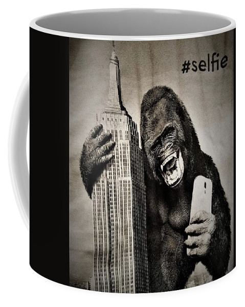 Architecture Coffee Mug featuring the photograph King Kong Selfie by Rob Hans