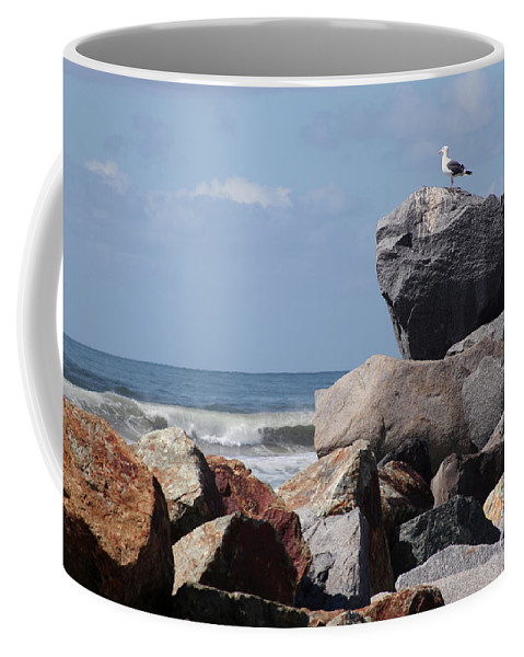 Beach Coffee Mug featuring the photograph King Of The Rocks by Margie Wildblood