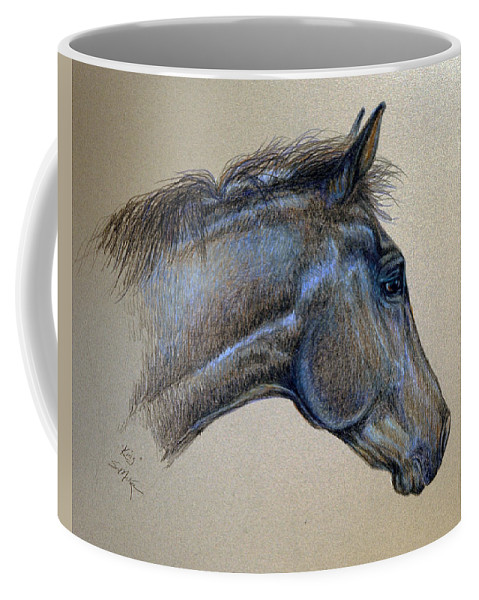 Nature Coffee Mug featuring the drawing King by Suzanne McKee