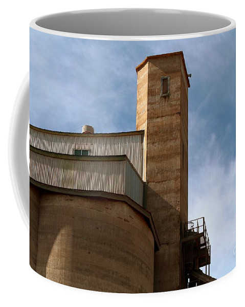 Silo Coffee Mug featuring the photograph Kingscote Castle by Stephen Mitchell