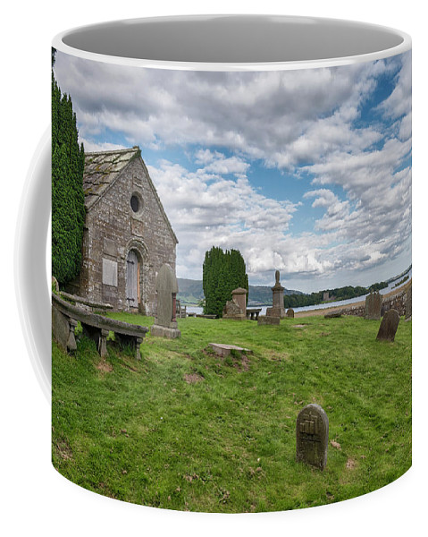Scotland Coffee Mug featuring the photograph Kinross Cemetery On Loch Leven by Jeremy Lavender Photography