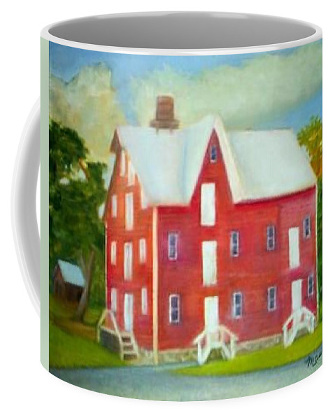 Kirby Mill Coffee Mug featuring the painting Kirby's Mil by Sheila Mashaw