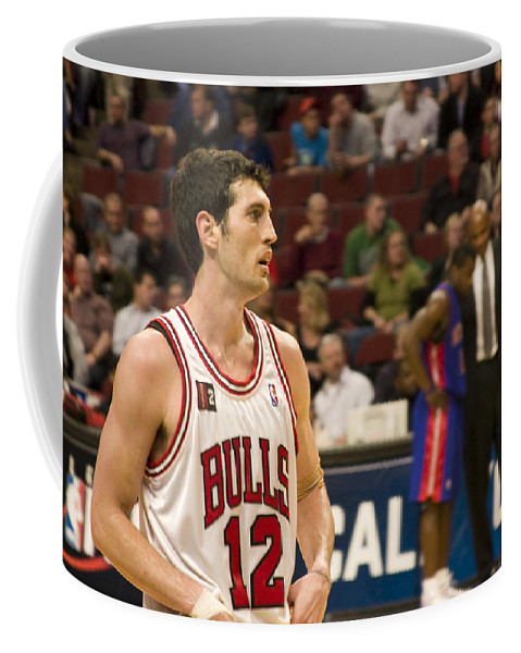 Chicago Windy City Bulls Basketball Nba Kirk Hinrich 12 Game United Center Home Coffee Mug featuring the photograph Kirk Hinrich by Andrei Shliakhau