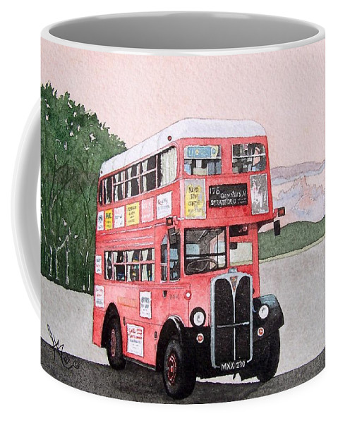 Bus Coffee Mug featuring the painting Kirkland Bus by Gale Cochran-Smith