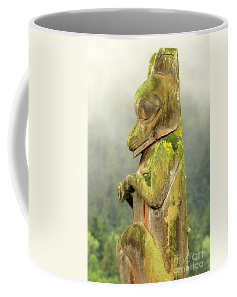 Totem Coffee Mug featuring the photograph Kispiox Totem by Frank Townsley