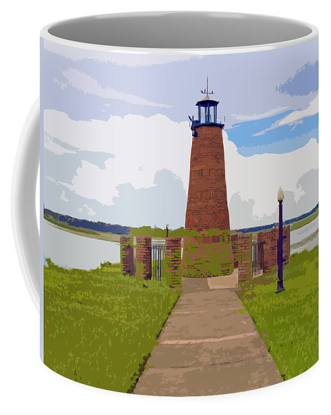 Kissimmee Coffee Mug featuring the painting Kissimmee Lighthouse by Allan Hughes