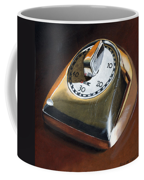 Kitchen Timer Coffee Mug featuring the painting Kitchen Timer by Rob De Vries