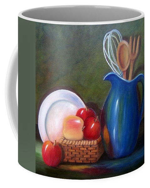 Pitcher Coffee Mug featuring the painting Kitchenware by Susan Dehlinger