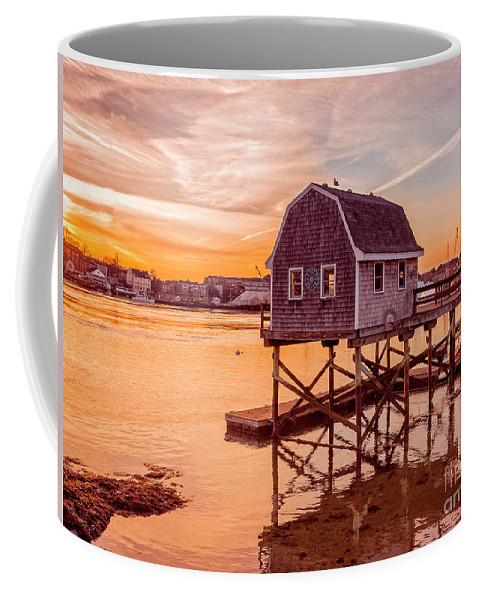 Sunset Coffee Mug featuring the photograph Kittery Maine Harbor Sunset by Edward Fielding