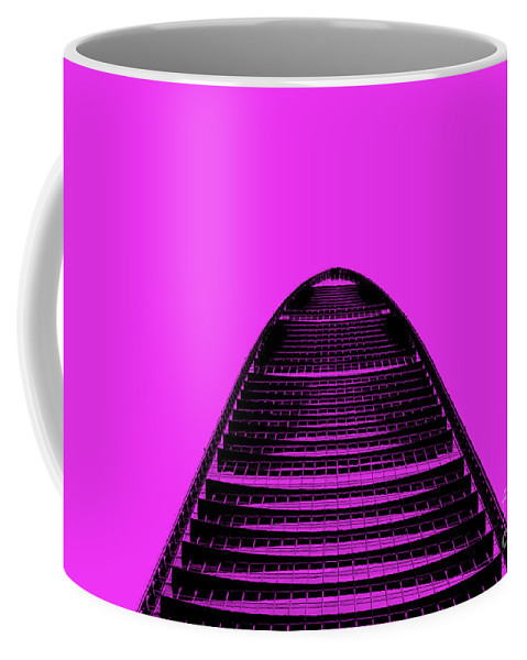 Shenzhen Coffee Mug featuring the photograph Kk100 Shenzhen Skyscraper Art Pink by Marco Toscani