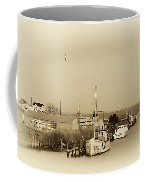 Knapps Narrows Coffee Mug featuring the photograph Knapps Narrows Tilghman Island by Bill Cannon