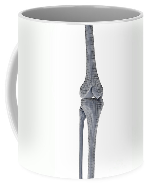 Digitally Generated Image Coffee Mug featuring the photograph Knee Joint by Science Picture Co