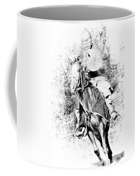 Knight Coffee Mug featuring the photograph Knight With His Horse by Athena Mckinzie