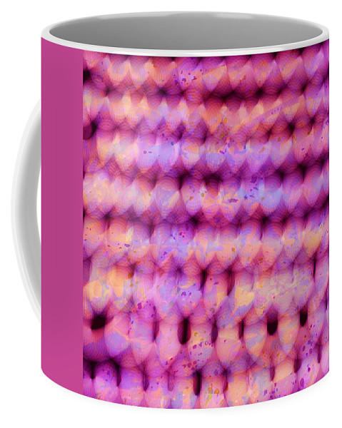 Abstract Coffee Mug featuring the digital art Knit Together by Rachel Christine Nowicki