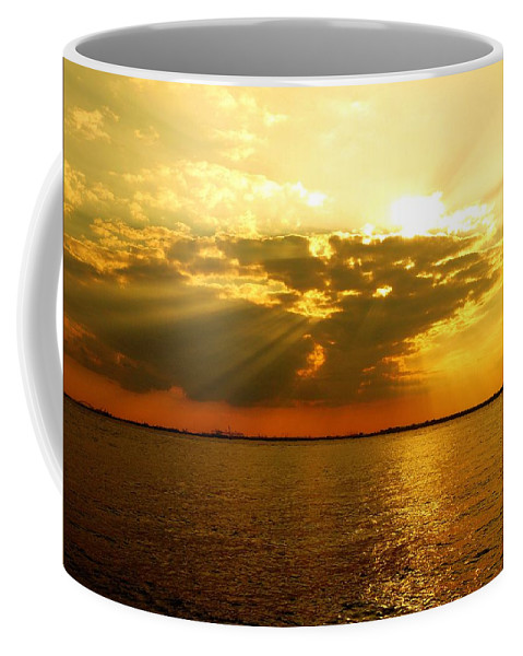 Gold Coffee Mug featuring the photograph Knocking On Heaven's Door by Kendall Eutemey