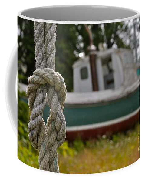 Boat Coffee Mug featuring the photograph Knot by Rick Monyahan