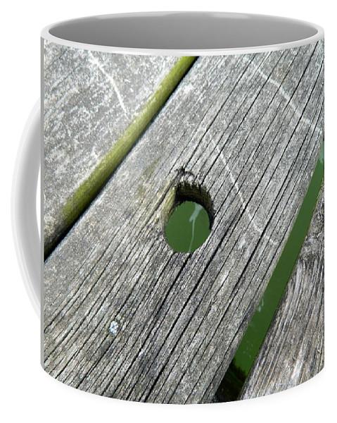 Knothole Coffee Mug featuring the photograph Knothole by Kathy Barney