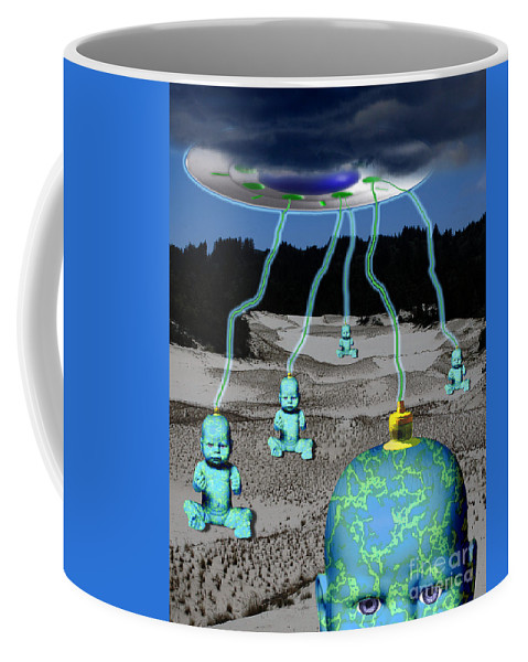 Gods Coffee Mug featuring the digital art Knowledge From The Gods by Keith Dillon