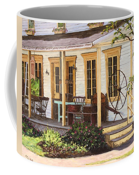 Urban Coffee Mug featuring the painting Knowlton Lac Brome by Richard T Pranke
