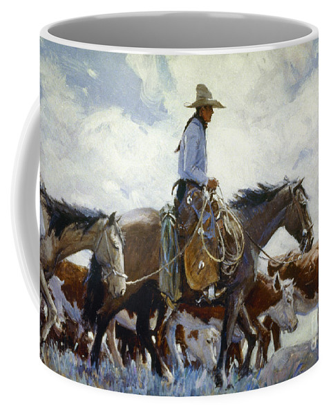 1920 Coffee Mug featuring the photograph Koerner: Cowboy, 1920 by Granger