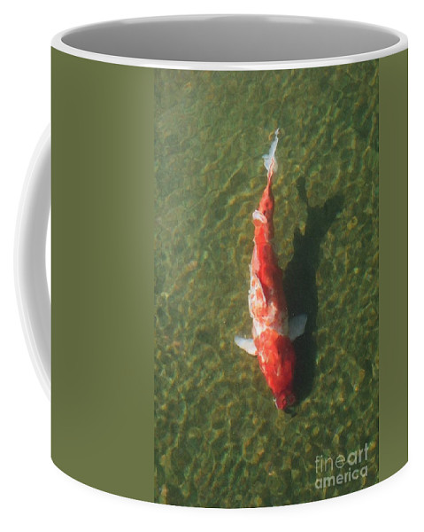 Koi Coffee Mug featuring the photograph Koi by Dean Triolo