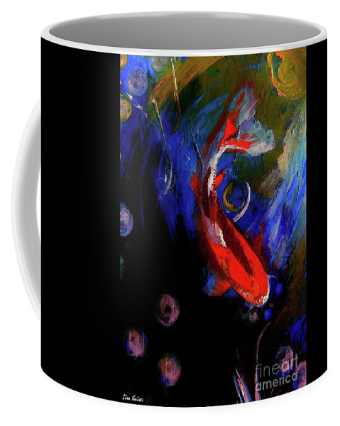 Coffee Mug featuring the painting Koi by Lisa Kaiser