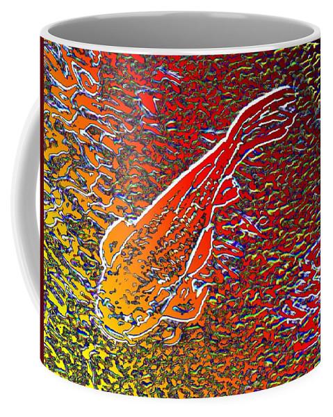 Koi Coffee Mug featuring the digital art Koi Pond by Tim Allen